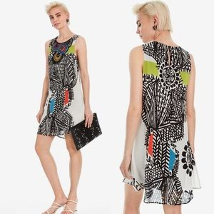 Desigual Natalia Printed Shift Dress Colourful 10
